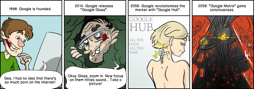 Piece of Me. A webcomic about Google, porn and the rise of the machines.