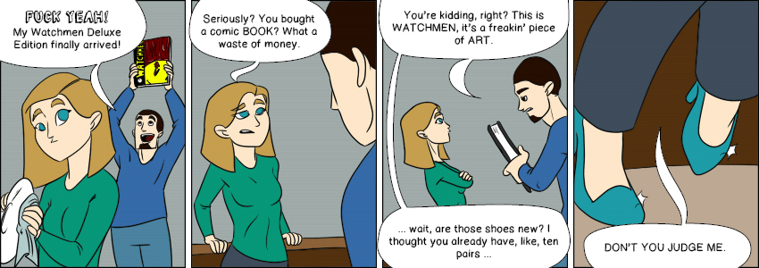 Piece of Me. A webcomic about wastes of money.