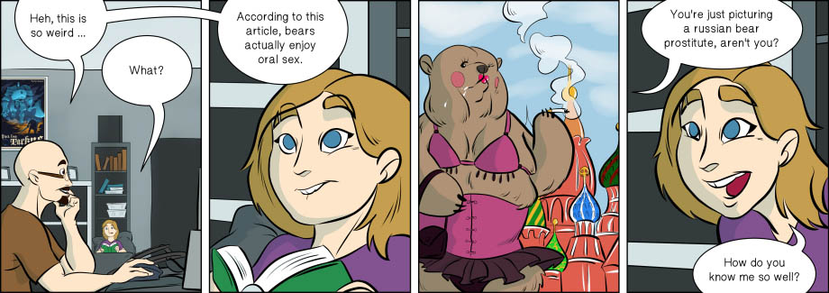 Piece of Me. A webcomic about certain animals enjoying certain sexual practices.
