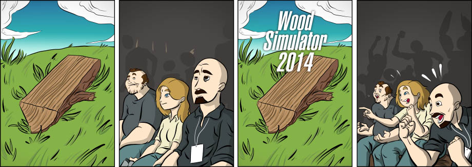 Piece of Me. A webcomic about pointless simulators and the average Steam greenlight game.
