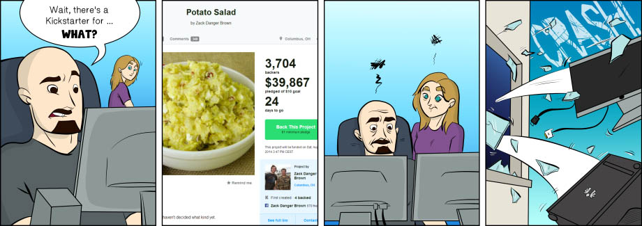 Piece of Me. A webcomic about ambitious salad recipes.