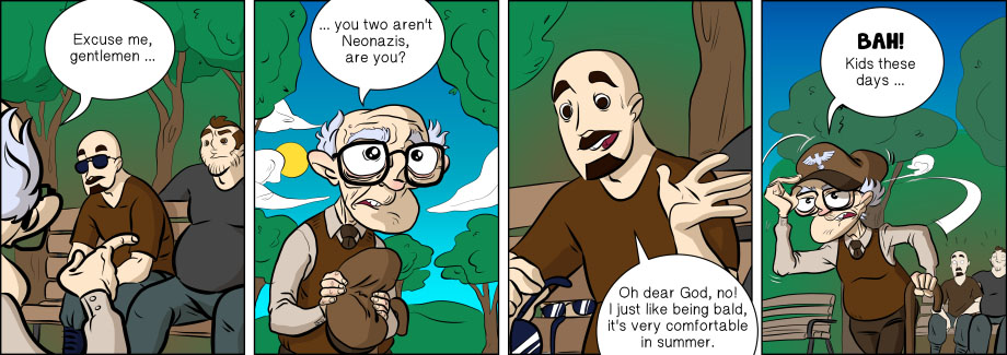 Piece of Me. A webcomic about old people and old ideals.
