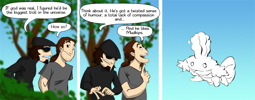 Piece of Me - A webcomic about god\'s fondness for mudkips.