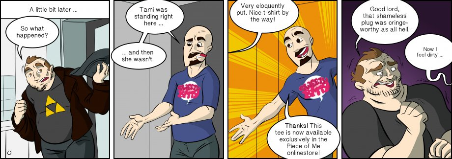 Piece of Me. A webcomic about shameless advertising methods.