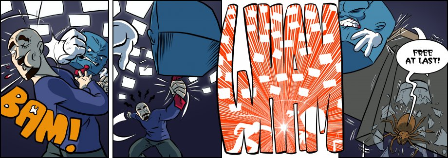 Piece of Me. A webcomic about throwing punches and breaking glasses.