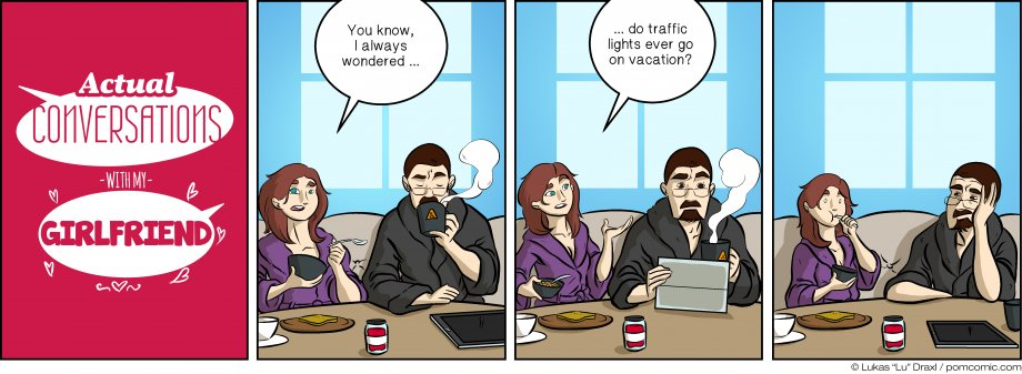 Piece of Me. A webcomic about traffic lights and vacation.
