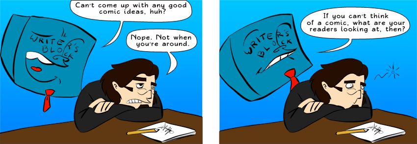Piece of Me - A webcomic about my writer's block.