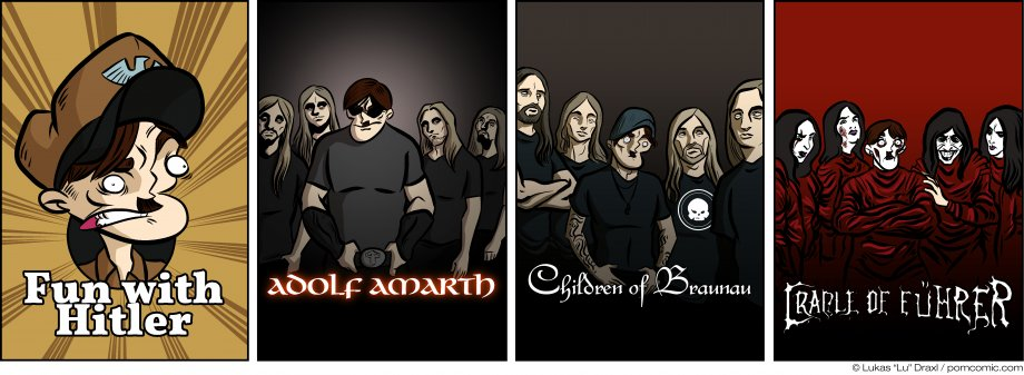 Piece of Me. A webcomic about alternative metal bands.