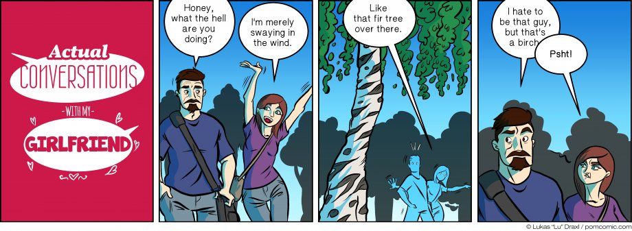 Piece of Me. A webcomic about swaying in the wind like trees.