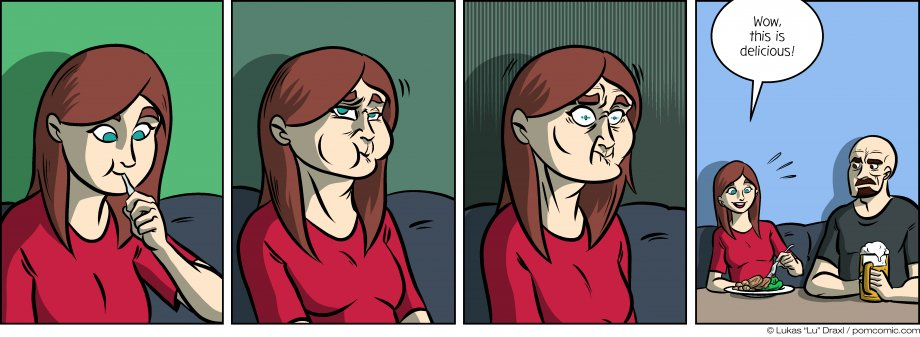 Piece of Me. A webcomic about disgusted faces and unexpected statements.