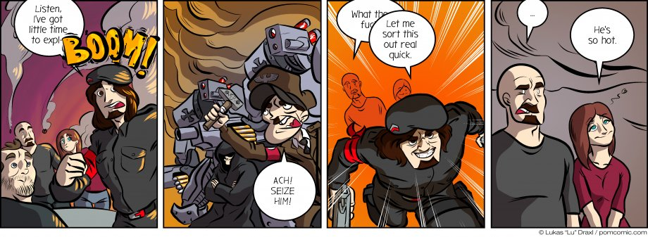 Piece of Me. A webcomic about no time to explain and sneaky attacks with Nazi robots.