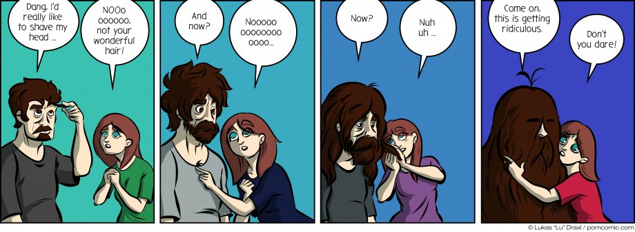 Piece of Me. A webcomic about rampant hair growth and letting go.