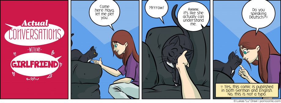Piece of Me. A webcomic about bilingual cats.