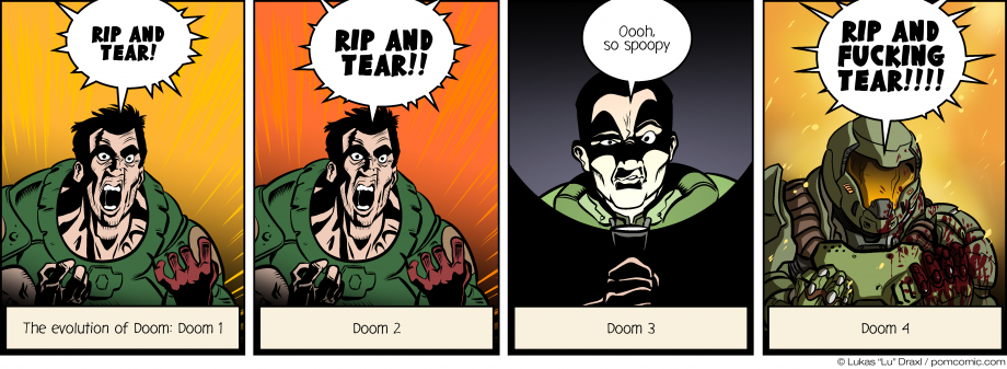 Piece of Me. A webcomic about the grandiose Evolution of the Doom game series.