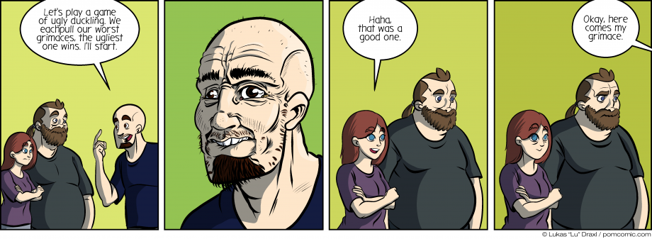 Piece of Me. A webcomic about odd games and ugly grimaces.