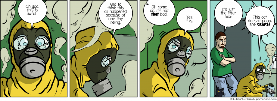 Piece of Me. A webcomic about dangerous biohazards and olfactory catastrophies.