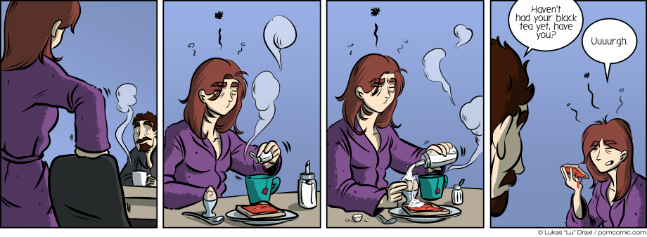Piece of Me. A webcomic about tired girlfriends and morning routines.