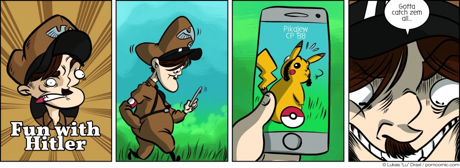 Piece of Me. A webcomic about evil dictators playing Pokémon Go.