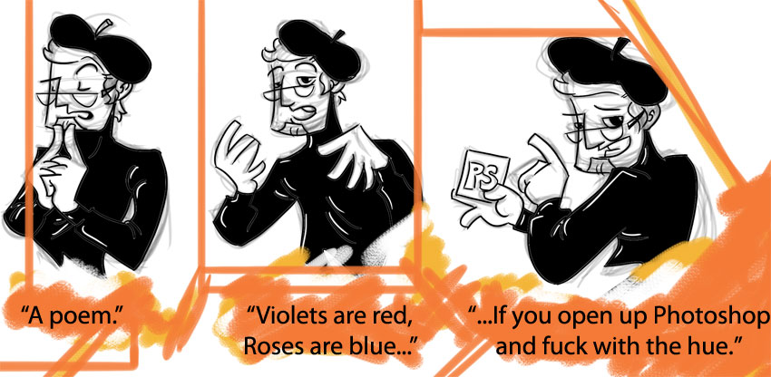 Piece of Me - A webcomic about bad poetry.
