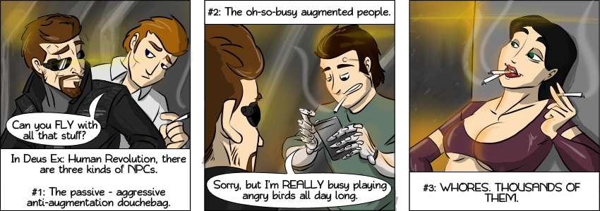 Piece of Me - A webcomic about Deus Ex: Human Revolution and its NPCs.