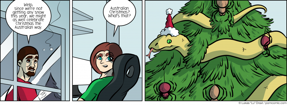 Piece of Me. A webcomic about lack of snow and Australian Christmas.