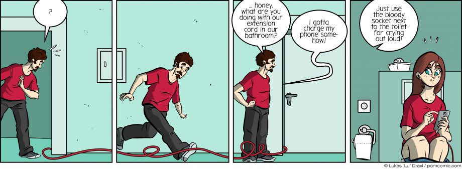 Piece of Me. A webcomic about extension cords and toilets.
