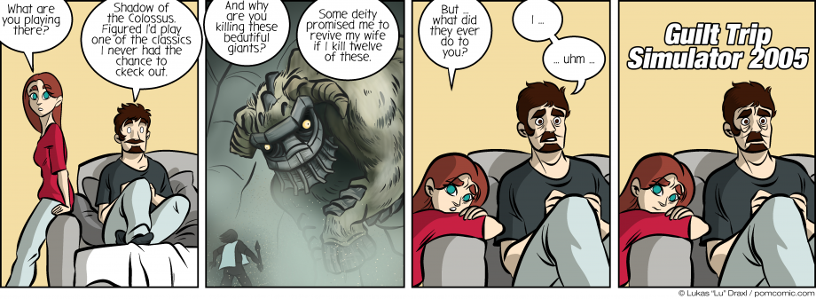 Piece of Me. A webcomic about Shadow of the Colossus and feelings of guilt.