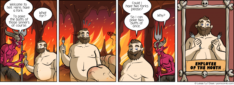 Piece of Me. A webcomic about hell and great employees.