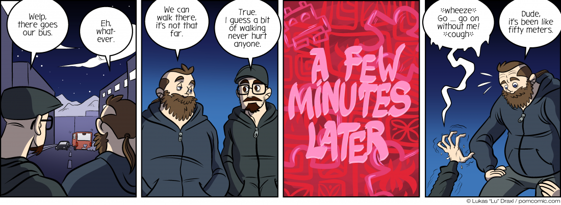 Piece of Me. A webcomic about missed busses and late night walks.