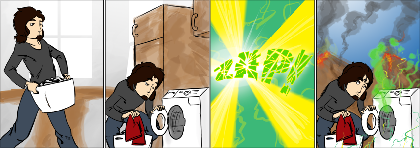 Piece of Me - A webcomic about time travelling. With a washing machine. Yes, you've read that right.