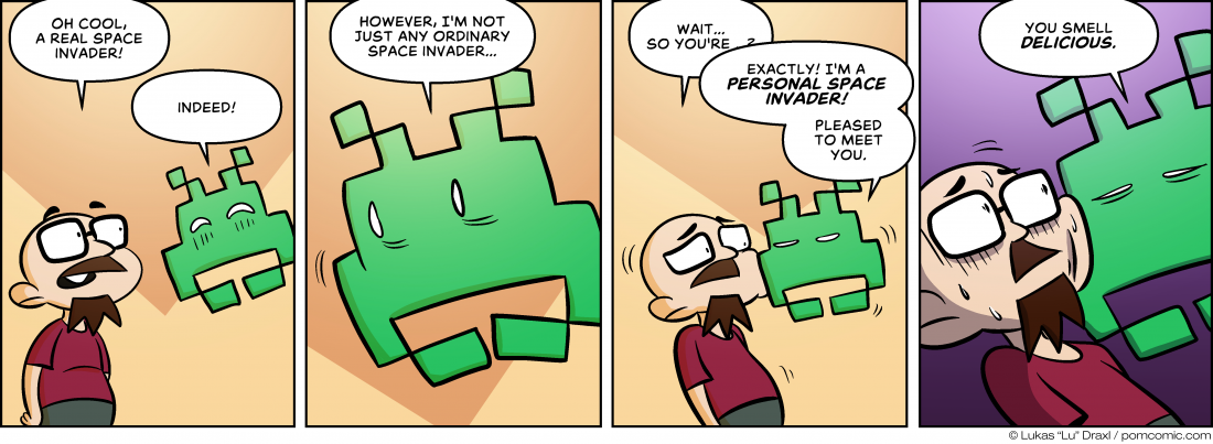 Piece of Me. A webcomic about quite irregular space invaders.