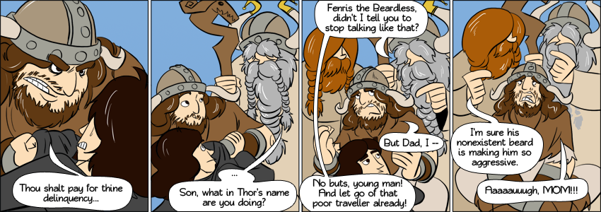 Piece of Me - A webcomic about embarassing viking parents.