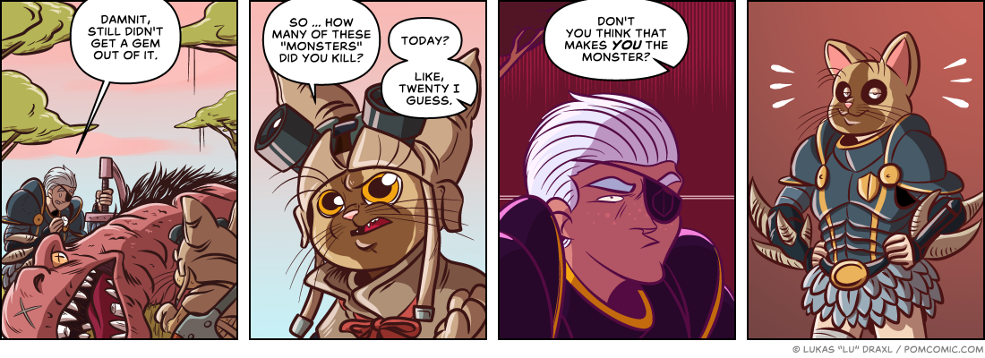 Piece of Me. A webcomic about Monster Hunter World and the REAL monsters of the game.