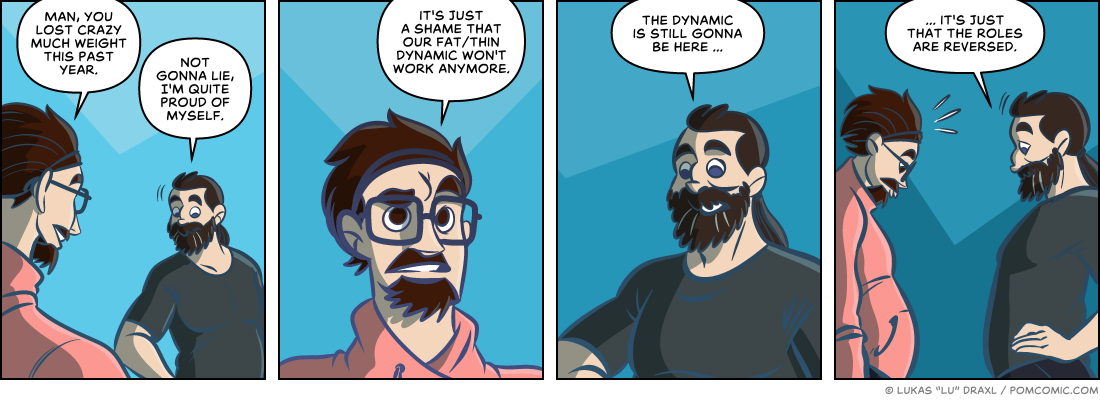 Piece of Me. A webcomic about new year's changes and role reversals.