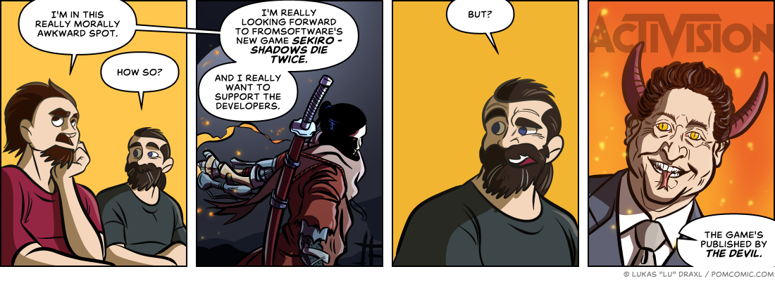 Piece of Me. A webcomic about great games and awful publishers. #firebobbykotick