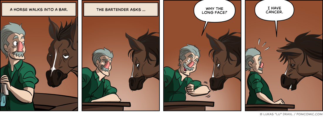 Piece of Me. A webcomic about horses in bars and old jokes.