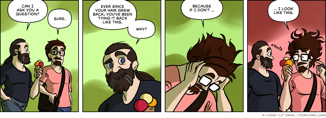 Piece of Me. A webcomic about odd hairstyles and hairy revelations.