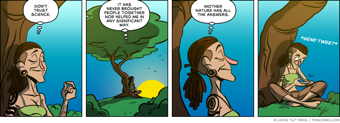 Piece of Me. A webcomic about the answers of mother nature.