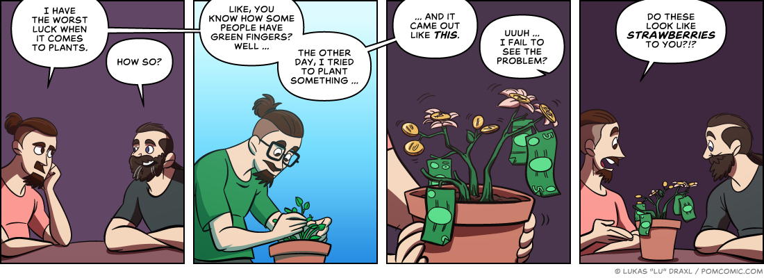 Piece of Me. A webcomic about plants and failure.