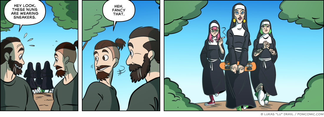 Piece of Me. A webcomic about nuns and subverted expectations.