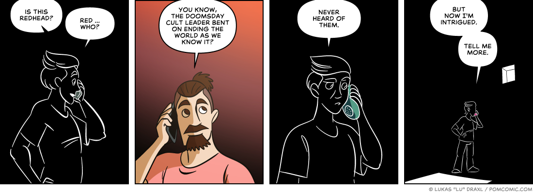 Piece of Me. A webcomic about wrong numbers and intriguing stories.