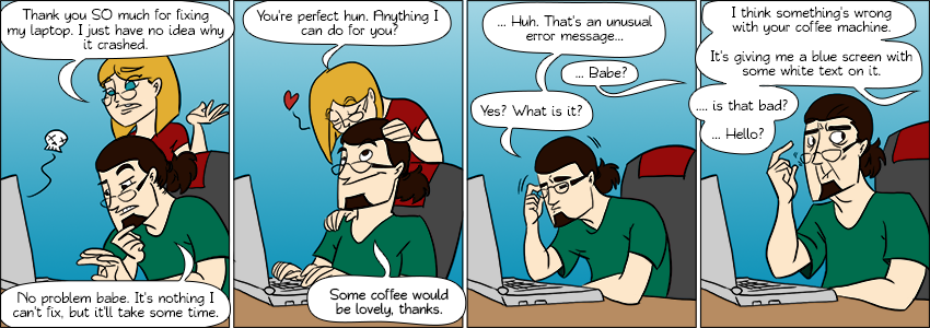 Piece of Me - A webcomic about stuff my girlfriend manages to crash.