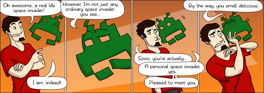 Piece of Me. A webcomic about all sorts of strange videogame characters.