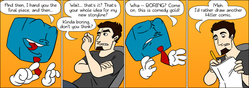 Piece of Me. A webcomic about boring storylines within pointless storylines. Storylineception!
