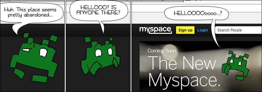 Piece of Me. A webcomic about abandoned social networks and curios invaders.