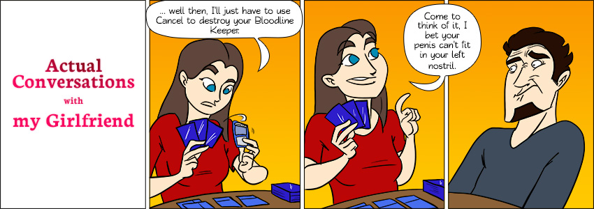 Piece of Me. A webcomic about the strange stuff Tami likes to bet on.