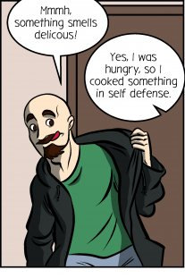Piece of Me. A webcomic about cooking in self defense.