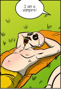 Piece of Me. A webcomic about vampires in summer and glistening bellies.