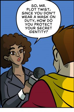 Piece of Me. A webcomic about super heroes and their secret identities.