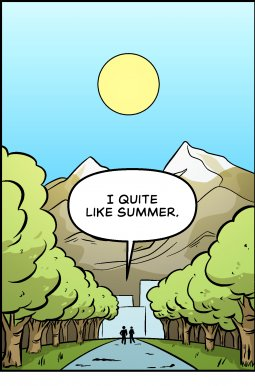 Piece of Me. A webcomic about pros and cons of Summer.